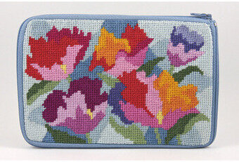 Cosmetic Purse - Watercolor Poppy - Needlepoint Kit