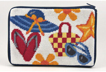 Cosmetic Purse - Beach Accessories - Needlepoint Kit