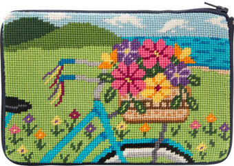 Cosmetic Purse - Springtime Ride - Needlepoint Kit