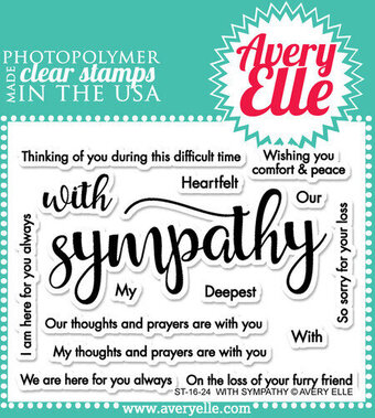 With Sympathy - Clear Stamp