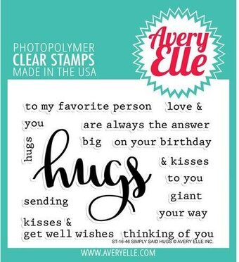 Simply Said Hugs - Clear Stamp