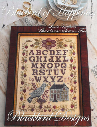 Bluebird Of Happiness - Loose Feathers Cross Stitch Pattern