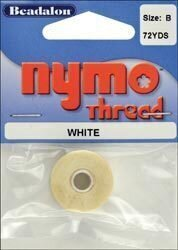 Nymo Beading Thread Spool - Size B - White