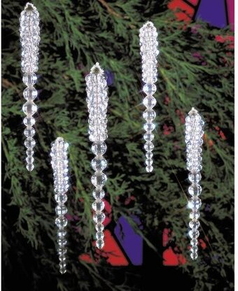 Sparkling Icicles Beaded Christmas Ornament Kit