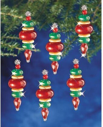 Victorian Baubles Beaded Christmas Ornament Kit