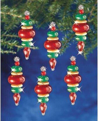 Amazing The Beadery Snow Crystals Beaded Christmas Ornament Kit Easy Diy Christmas Decorations Tissureus