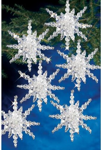 Snow Clusters Beaded Christmas Ornament Kit