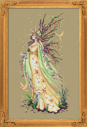 Gaia the Earth Goddess - Cross Stitch Pattern