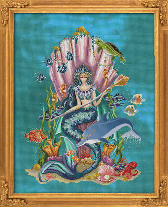 Amphitrite Queen Goddess of the Sea - Cross Stitch Pattern