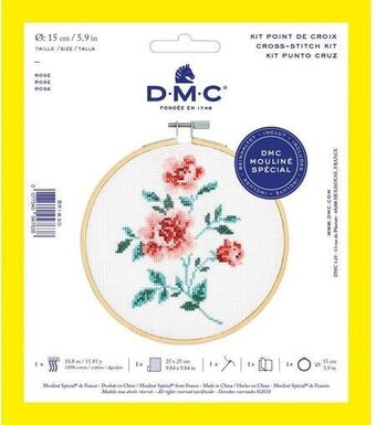 Rose - DMC Cross Stitch Kit