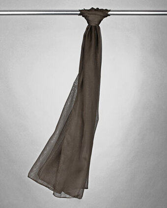 Solid Chiffon Scarf - Chocolate
