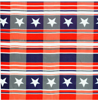 Polyester 21x21 Independence Day Patriotic Scarf