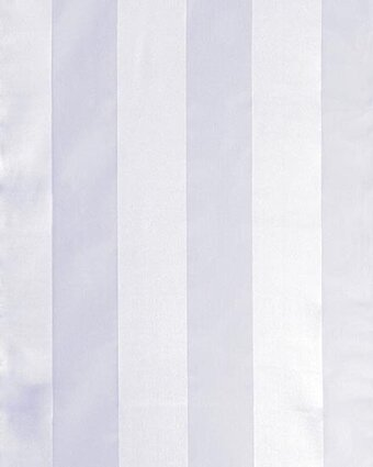 Print Scarf - 13x60 Satin Stripe - Solid Color - White