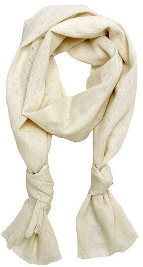 Ivory Polyester Texture Scarf
