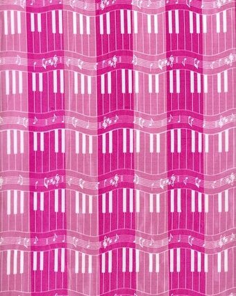 Fuchsia Polyester 21x21 Satin Stripe Piano Keyboard Scarf