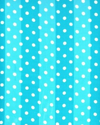 Light Blue Polyester 21x21 Satin Stripe Polka Dots Scarf