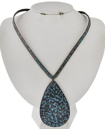 Patina Choker Style Necklace