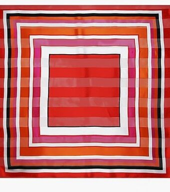 "Red 100% Polyester 42"" x 42"" Abstract Scarf"