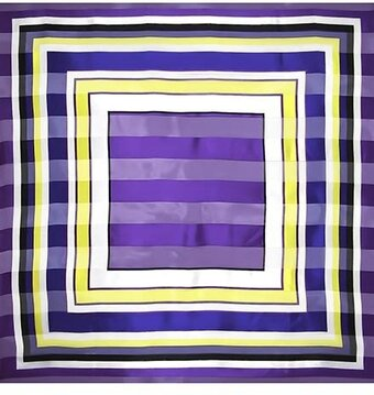 "Purple 100% Polyester 42"" x 42"" Abstract Scarf"