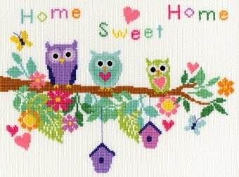 Owl Bouquet - Cross Stitch Kit