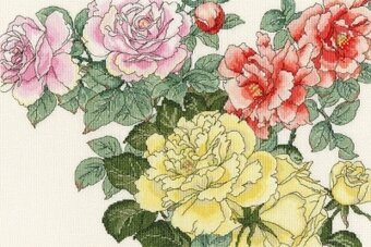 Rose Blooms - Cross Stitch Kit