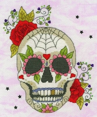 Sugar Skull Halloween - Cross Stitch Kit