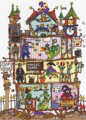 Cut Thru Magic School - Cross Stitch Kit