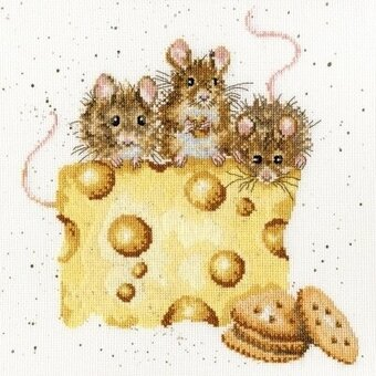 Crackers About Cheese - Cross Stitch Kit