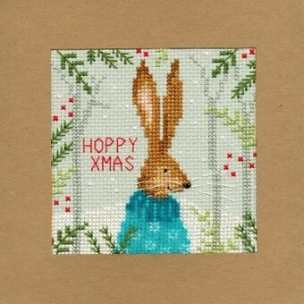 Bothy Threads Under The Mistletoe Cross Stitch Christmas Card Kit