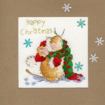 Counting Snowflakes Christmas Card Kit - Margaret Sherry