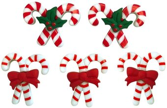 Christmas Peppermint Pairs - Button Theme Pack