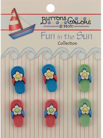 Fun In The Sun Buttons - Flip-Flops