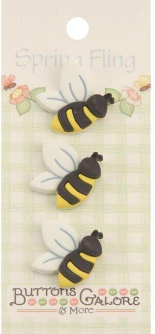 Spring Fling Buttons - Bees