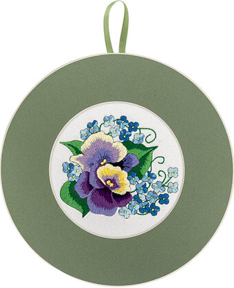 Pansies and Forget me nots - Cross Stitch Kit