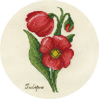 Small Bunch of Tulips - Cross Stitch Kit