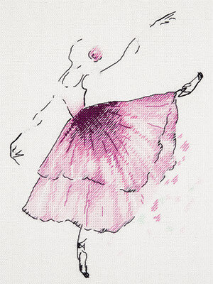 Anemone Flower Ballerina - Cross Stitch Kit