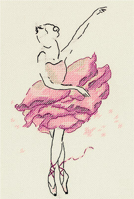 Rose Flower Ballerina - Cross Stitch Kit