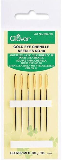 Clover Gold Eye Chenille Needles Size 18