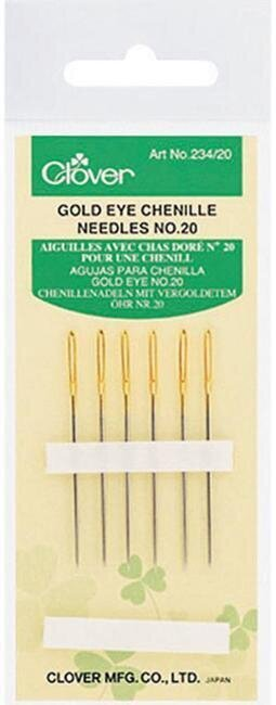 Clover Gold Eye Chenille Needles Size 20