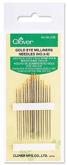 Clover Gold Eye Milliners Needles