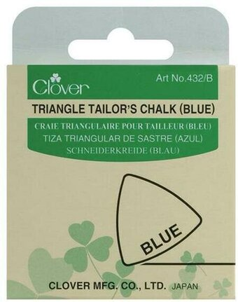 Clover Triangle Tailor's Chalk - Blue