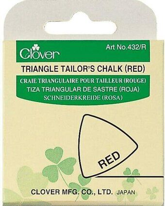 Clover Triangle Tailor's Chalk - Red