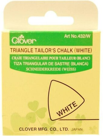 Clover Triangle Tailor's Chalk - White