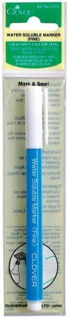 Clover Water Soluble Marker Fine Point - Blue