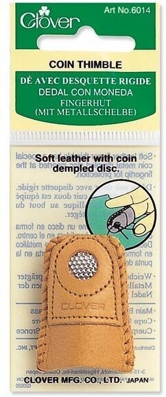 Clover Leather Coin Thimble