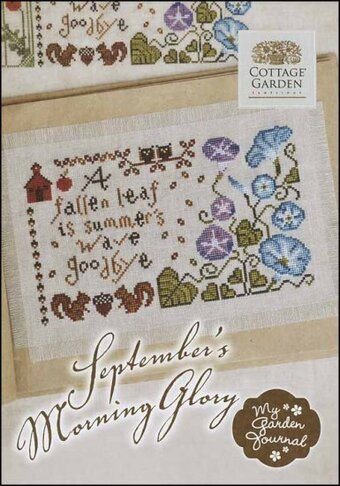 September's Morning Glory - Cross Stitch Pattern