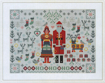 Santa & Mrs Claus Folkies - Cross Stitch Pattern