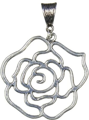 Jewelry Basics Pendant - Open Rose Accent