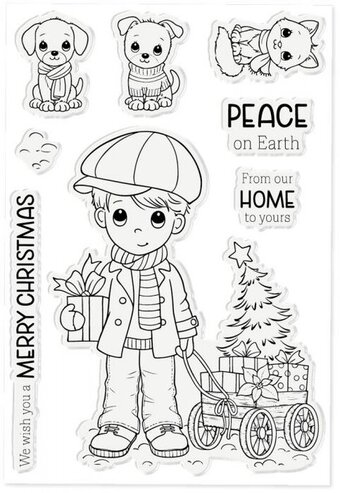 Benny's Christmas - Clear Stamp
