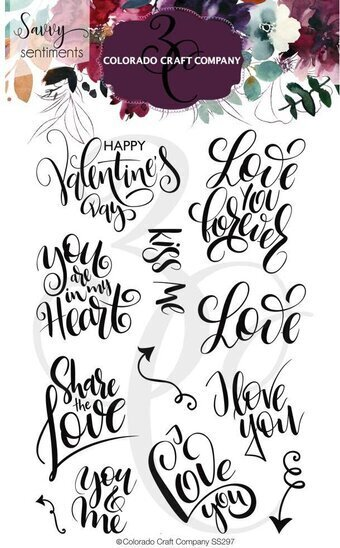 You and Me Love - Savvy Sentiments - Valentines Clear Stamp
